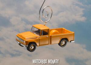 Yellow 1965 International Harvester 1200 Pickup Truck Custom Christmas Ornament