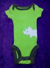 Child of mine Preemie baby boy Green with Rhinoceros bodysuit.