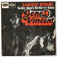 "Gene VINCENT    Lucky star    7"" 45 tours SP"