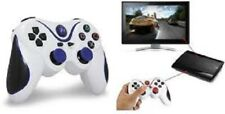 3rd Party White/Blue Wireless Gamepad Controller for PS3 Playstation 3 Console