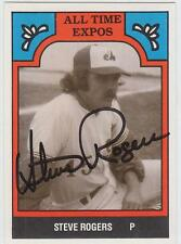 STEVE ROGERS Autographed Signed 1986 TCMA card All Time Montreal Expos COA RARE