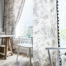 Cotton Linen Curtains Living Bedroom Boho Window Panels Screen Treatment Drapes