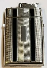 Evans Cigarette Lighter & Case Silver Tone with Original Box & Pouch 1940 s