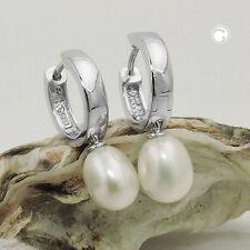 Ohrschmuck aus Sterlingsilber mit Süßwasser-Perlen