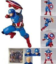 Revoltech Series Captain America PVC Action Figure Toy Collection Gifts