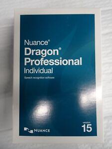 Nuance Dragon Professional Individual 15 FULL VERSION + 256GB - New Retail Box