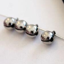 10 Campanellini da 8 mm in metallo Nikel Free - color argento