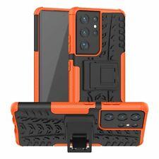 Samsung Galaxy S21 Ultra Hülle Handy Tasche Handyhülle Back Cover Outdoor Orange