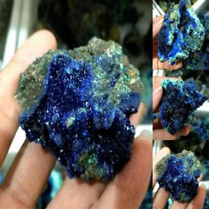 100% Natural Azurite Malachite Geode Crystal Rough Rare Mineral Specimen Stone