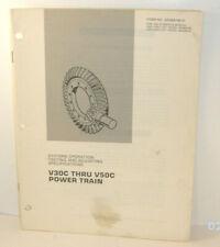 Caterpillar V30c V50c Power Train Sys Op Testing Manual Senb8106 01 T1331