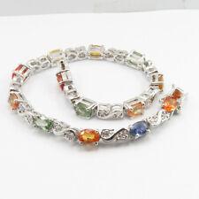 Genuine Quality SAPPHIRE Bracelet ! 925 Solid Silver Bonfire Night Gift