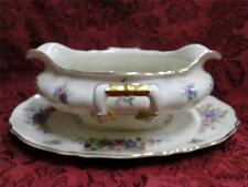 Krautheim/Franconia Lakme Floral Scalloped with Gold Trim: Gravy Boat