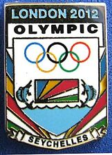 LONDON 2012 Olympic SEYCHELLES NOC Internal team - delegation pin