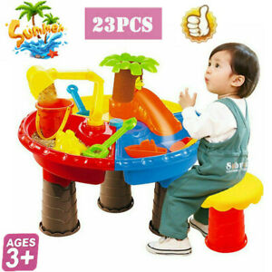 Kids Childrens Sand and Water Table Boys Girls Sandpit Outdoor Garden Play Set