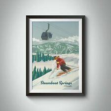 More details for steamboat springs colorado ski resort travel poster - bucket list prints