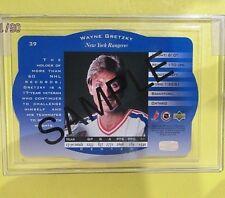 """WAYNE GRETZKY  96-97  """" SPx  SAMPLE CARD """"  #39   NY Rangers   ( PROMO )"""