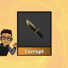 CORRUPT  MM2 ROBLOX MURDER MYSTERY 2 VIRTUAL ITEM. UNIQUE GODLY KNIFE WEAPON