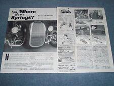 "Model A & T Torsion Bar Suspension Tech Info Article ""So, Where Are The Springs"""