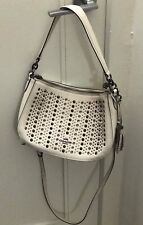 Coach All Over Studs Chelsea Crossbody Handbag Chalk #37036 Near MINT!