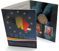 Belgien 2 Euro Gedenkmünze 2005 Stgl. Wirtschaftsunion mit Luxemburg im Folder