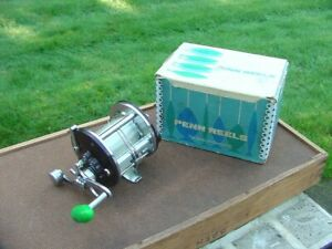 Vintage Penn Peerless No. 9 Level Wind Fishing Reel in box -- GREAT CONDITION