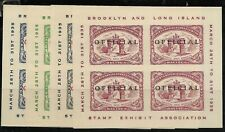 Brooklyn & Long Island Stamp Exposition 4 sheets 1935 'Official', Cinderella