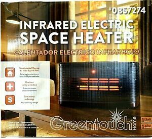 Greentouch 1500W Infrared Quartz Cabinet Electric Space Heater with Thermostat