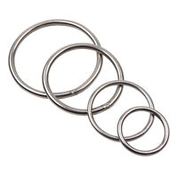 Stainless Steel Round Ring Welded Nickel Plated Marine Grade O-rings 4 Sizes