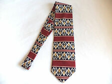 Geoffrey Beene New 100% Imported Silk Native American Inspired Tie USA