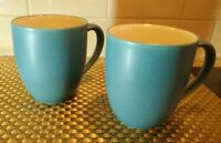 Set of 2 Noritake Colorwave Turquoise 12 oz. Stoneware Mugs # 8093 NWOT
