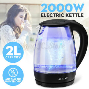 SOKANY 2L Automatic Electric Hot Water Kettle Heater Tea Pot Jug Boiler 2000W