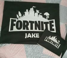 Boys Single Fortnite Bed Cover With Name (JAKE)