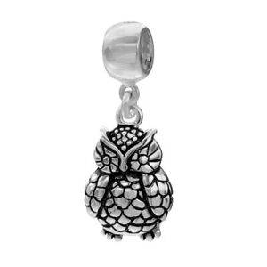 Sterling Silver Individuality Beads - Dangling Owl Charm NEW