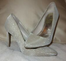 Jennifer Lopez Womens Esla High Heel Pumps Pewter #BR10