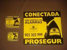 CARTEL DISUASORIO PROSEGUR CON UNAS MEDIDAS DE 30 X 28 CM + 2 PEGATINAS. NUEVO-1