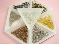 100 x Open Split JUMP RINGS Findings for DIY Craft Making ~3mm - 14mm~ 6 Colors