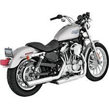 "Vance And Hines Twin Slash Dual Slip-On Exhaust 3"" Chrome 16839 SC7095"