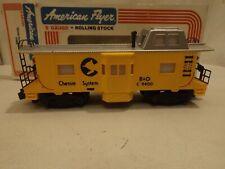 S gauge American Flyer #4-9400 Chessie System caboose in original box