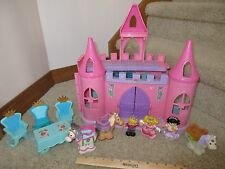 Fisher Price Little People Pink Palace dancing horse bendable Princess Prince