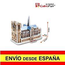 Puzzle 3D  NOTRE DAME DE PARÍS CubicFun Educativo 39 Piezas a0115