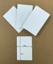 Blank flash cards / playing card (blank BOTH sides) at 56mm x 86mm, gloss finish