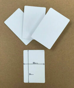 Blank flash cards playing card (blank BOTH sides) at 56mm x 86mm, gloss finish