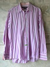 ARNOLD BRANT cotton Long Sleeve Shirt size 17 Men's Pink color Striped