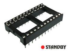 30pcs Wide 24 pin DIP24 IC Sockets Integrated Circuit Adaptor Solder Type Socket