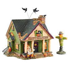 Dept 56 Snow Village Halloween New 2015 THE SCARECROW HOUSE Set/2 4044881 D56