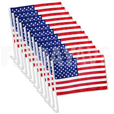 "12x US American Patriotic Car Window Clip USA Flag 17"" x 12"" - Pack of 12"