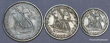 PORTUGAL Serie 3 pieces CIRCULES 10,5 et 2,5 ESCUDOS Pre Euros AD1fg