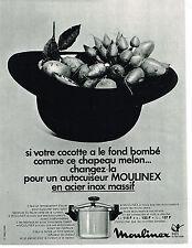 PUBLICITE ADVERTISING 014   1972   MOULINEX  autocuiseur cocotte- minute