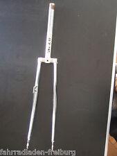 neue  stahl-verchromte reparatur gabel 28x1,75 für oldtimer mit dynamohalter