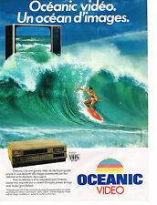 PUBLICITE  1983   OCEANIC  magnétoscope téléviseur